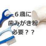 6歳に歯みがき粉は必要?親が家庭でできる虫歯予防とは何か?